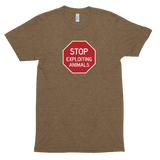 Stop Exploiting Animals<br> Unisex Tri-Blend Tee