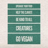 Upgrade Everything, Go Vegan<br/> Unisex Tri-Blend Tee