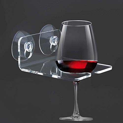 Shower and Wall Wine Glass Holder
