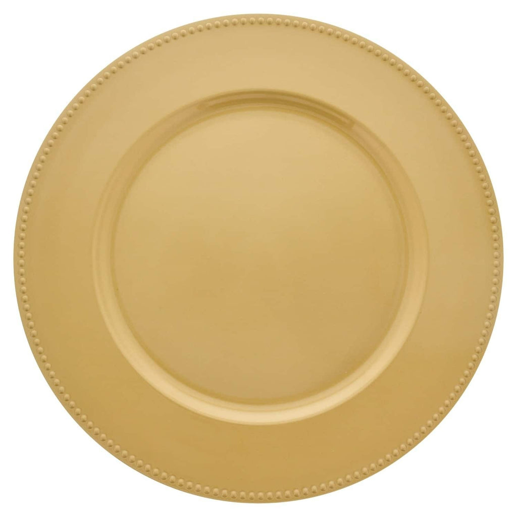 Gold Plastic Charger Plate - 13 in.