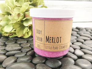 Organic Wine Sugar Body Scrub - Merlot
