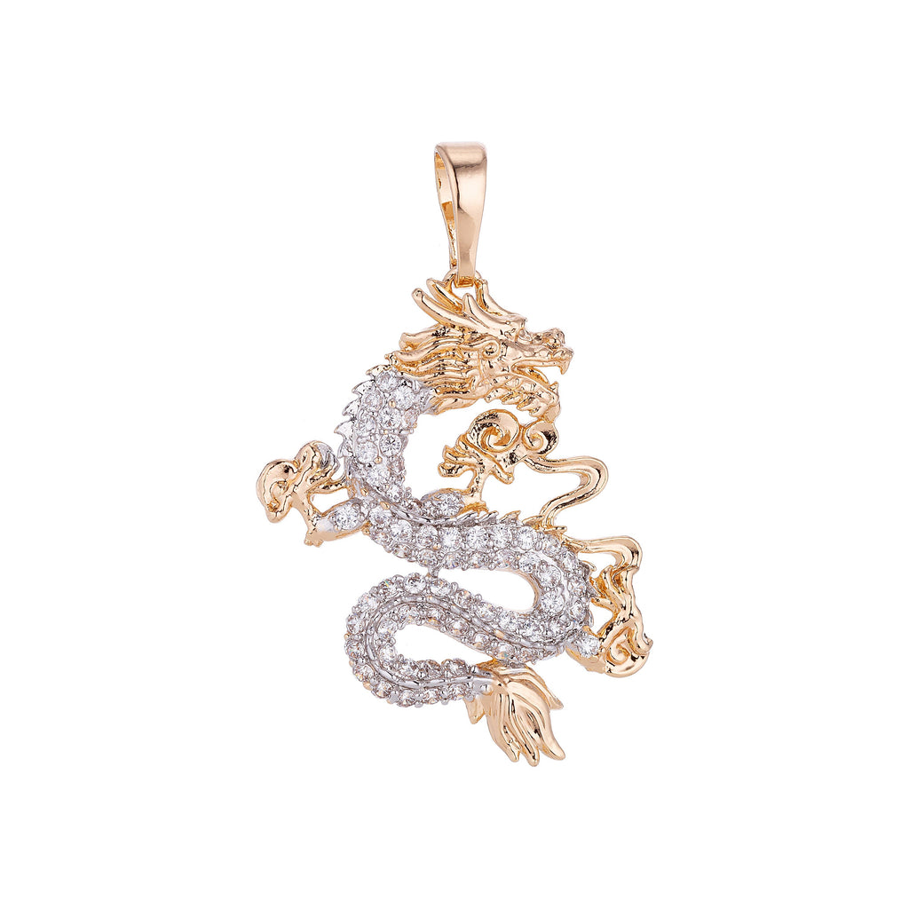 18K Gold Filled Heavenly Dragon Pendant