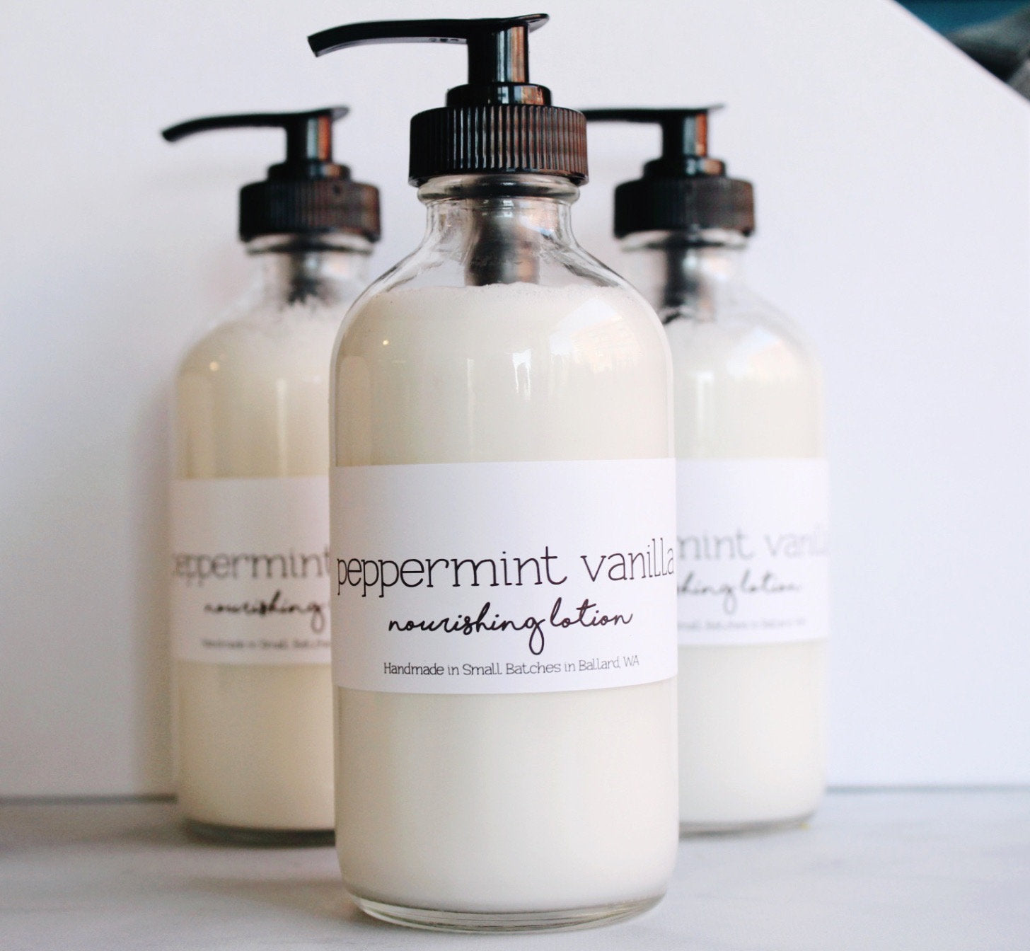 Peppermint Vanilla Vegan All Natural Nourishing Body Lotion