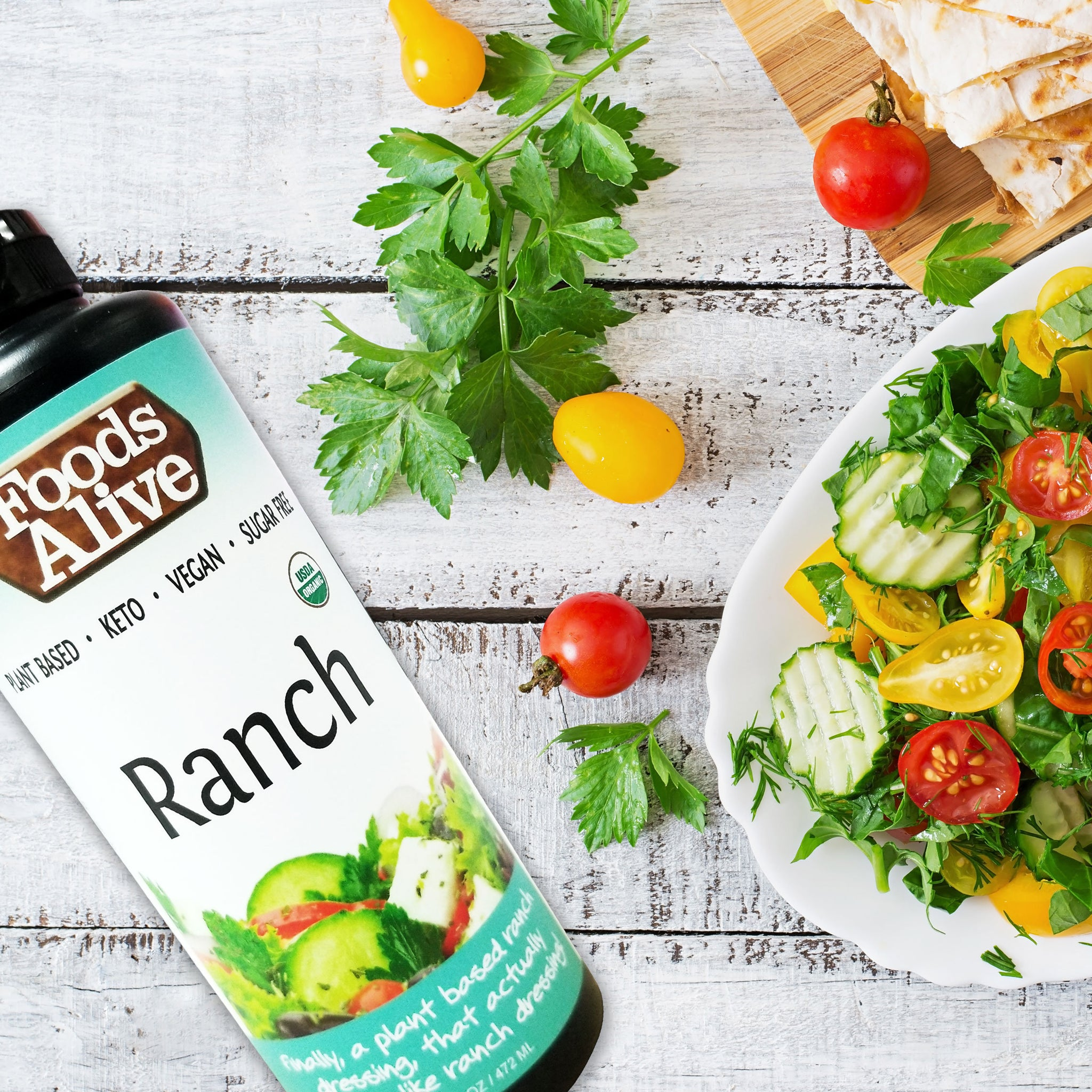 100% Organic Ranch Superfood Dressing, Vegan- 4 oz