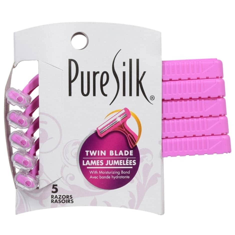 Twin-Blade Razors - 5 count pack