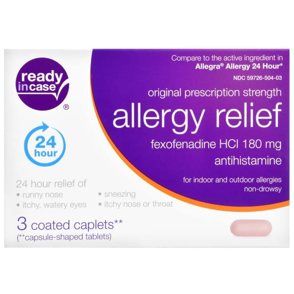 Ready in Case 24 Hour Allergy Relief Medicine - 3 count pack