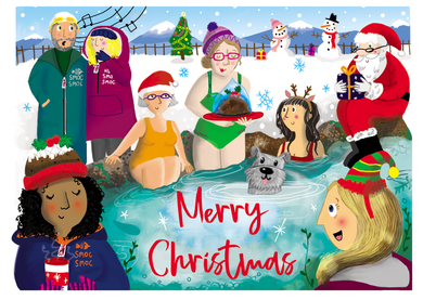 Christmas cards with a wild swimming and smoc smoc twist!