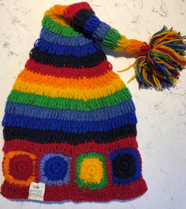 smoc smoc Woolly Rainbow Hat with pom pom