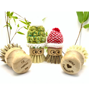 'I'd rather be wild swimming' Eco Washing Up Scrubbers (pair)