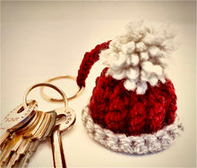 Load image into Gallery viewer, Handmade Crochet bobble hat Keyring one to match every smoc