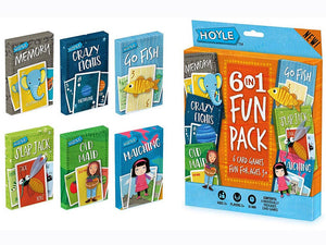6 IN 1 CARD GAMES FUN PACK