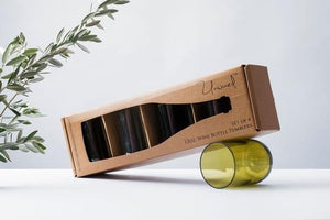 UNWINED RECYCLED WINE TUMBLERS - SET 4