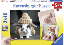 Load image into Gallery viewer, PUZZLE 3X49 FUNNY ANIMAL PORTRAITS