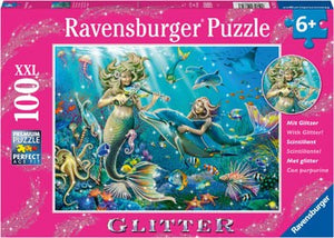 PUZZLE 100PC XXL UNDERWATER BEAUTIES GLITTER RAVENSBURGER