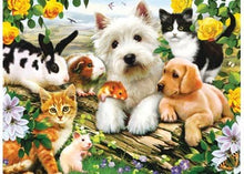 Load image into Gallery viewer, PUZZLE 300PC XXL HAPPY ANIMAL BUDDIES RAVENSBURGER