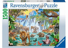 Load image into Gallery viewer, PUZZLE 1500PC WATERFALL SAFARI