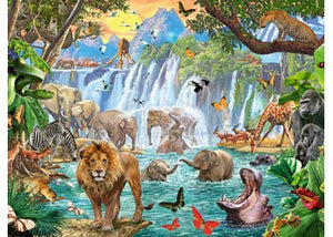 PUZZLE 1500PC WATERFALL SAFARI