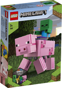 LEGO 21157 MINECRAFT BIGFIG PIG WITH BABY ZOMBIE AGE 7+