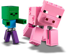 Load image into Gallery viewer, LEGO 21157 MINECRAFT BIGFIG PIG WITH BABY ZOMBIE AGE 7+