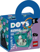 Load image into Gallery viewer, LEGO 41928 DOTS BAG TAG NARWHAL AGE 6+