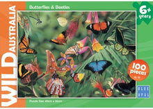 Load image into Gallery viewer, PUZZLE 100PC BOPAL BUTTERFLIES & BEETLES