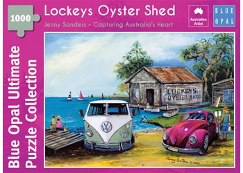 PUZZLE 1000PC LOCKEYS OYSTER SHED BLUE OPAL