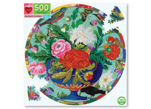 PUZZLE 500 ROUND-BOUQUET & BIRDS