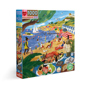 PUZZLE 1000PC BEACH UMBRELLAS EEBOO