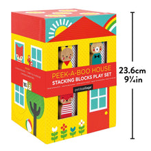 Load image into Gallery viewer, STACKING BLOCKS PEEK-A-BOO HOUSE PLAY SET