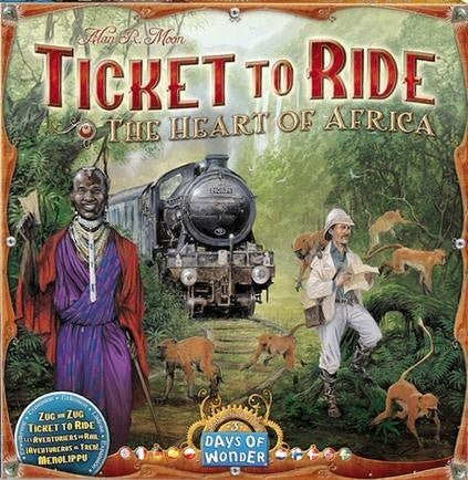 TICKET TO RIDE EXPANSION THE HEART OF AFRICA