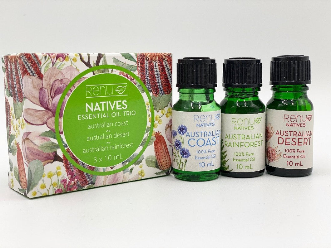 RENU NATIVES ESSENTIAL OIL TRIO