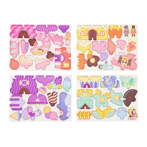 PUZZLE & DRAW MAGNETIC KIT CANDY HOUSES