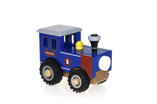 WOODEN TRAIN ENGINE