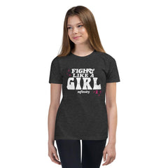 BCA FIGHT LIKE A GIRL TEE – YOUTH Nfinity DARK GREY L