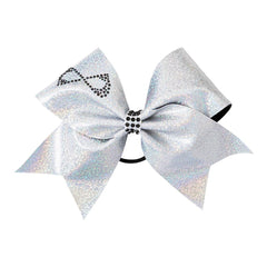 HAIR BOWS Accessories NfinityiNsiders WHITE HOLOGRAM