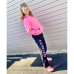 MONOCHROME SWEATPANTS Sweatpants NfinityiNsiders YL LIGHT PINK