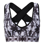 PATTERNED SPORTS BRA Sports Bra NfinityiNsiders XS BLACK/GRAY PRISM