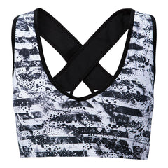 PATTERNED SPORTS BRA Sports Bra NfinityiNsiders XS BLACK/GRAY STRIPE