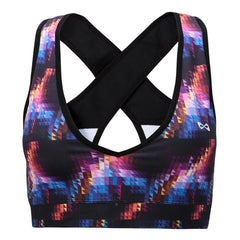 PATTERNED SPORTS BRA Sports Bra NfinityiNsiders XS BLACK/MULTI PRISM