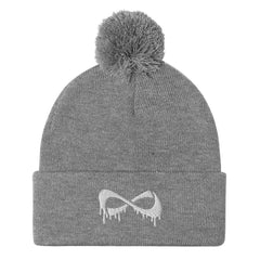 Pom-Pom Beanie Accessories Nfinity Heather Grey