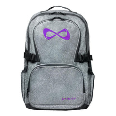 SPARKLE BACKPACK Backpack Nfinity GRAY/PURPLE