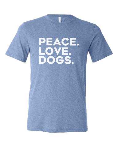 A Peaceful Pack - Adult Blue Short Sleeve Tee