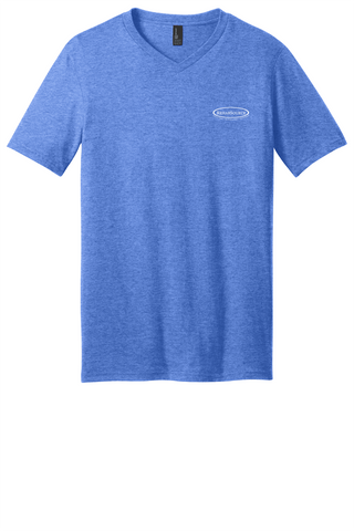 Rehab Source - Heathered Royal V-neck - Logo Only