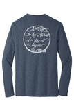 Rehab Source - Heathered Navy Long Sleeve - Ring
