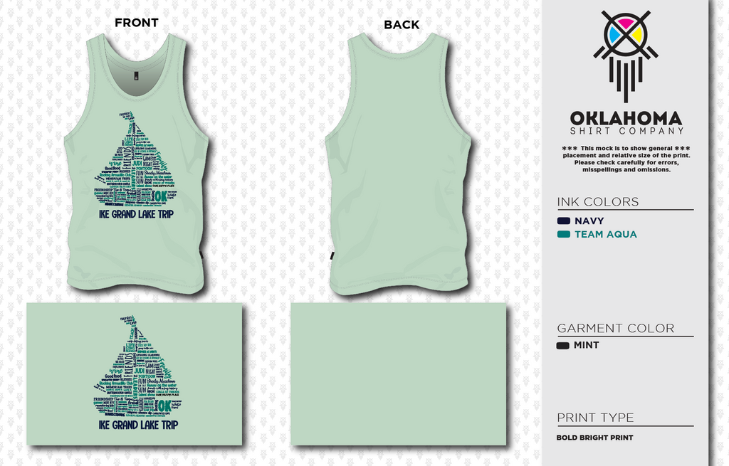 Ike Lake Trip Women's Tank