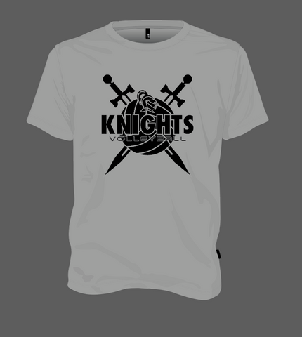 Knights Volleyball Shield - Grey