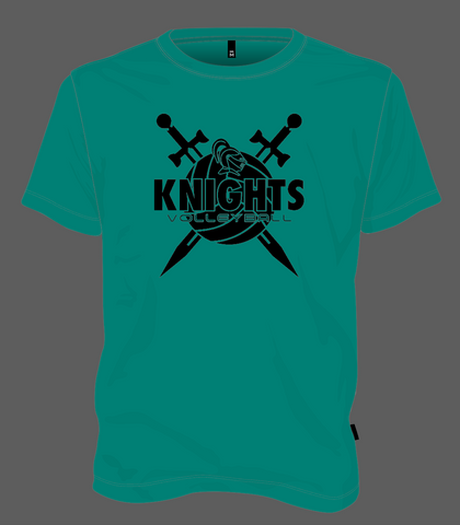 Knights Volleyball Shield - Jade