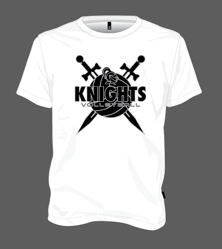 Knights Volleyball Shield - White
