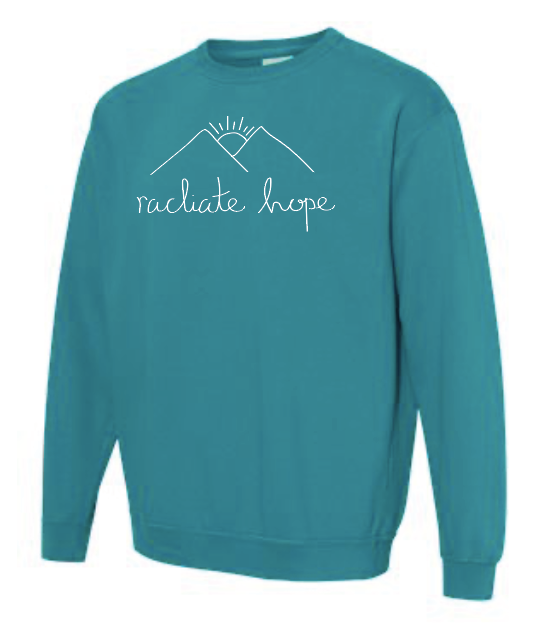 Radiate Hope Sweatshirt - Topaz