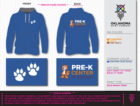 Full Zip Jacket - Pre-K Center at Johnson